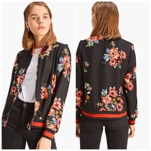 Stradivarius Woman Bomber Jacket With Print